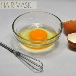 Easy homemade egg hair mask
