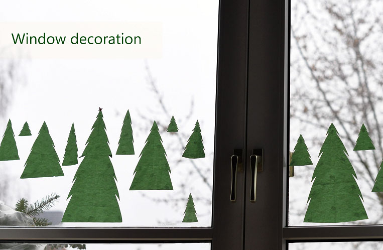 fir trees on your window