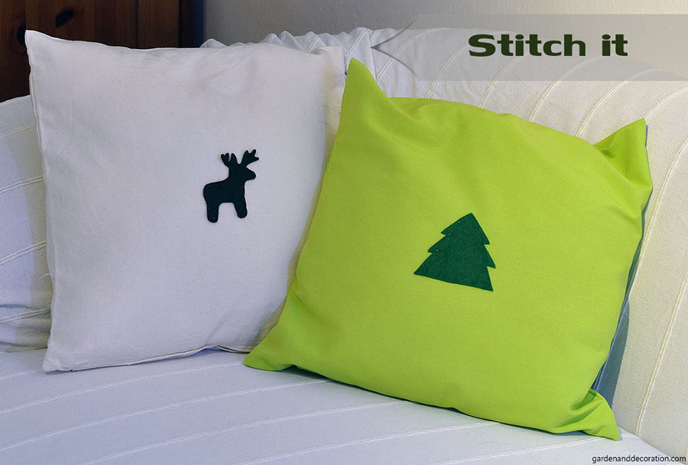 Stitched pillows