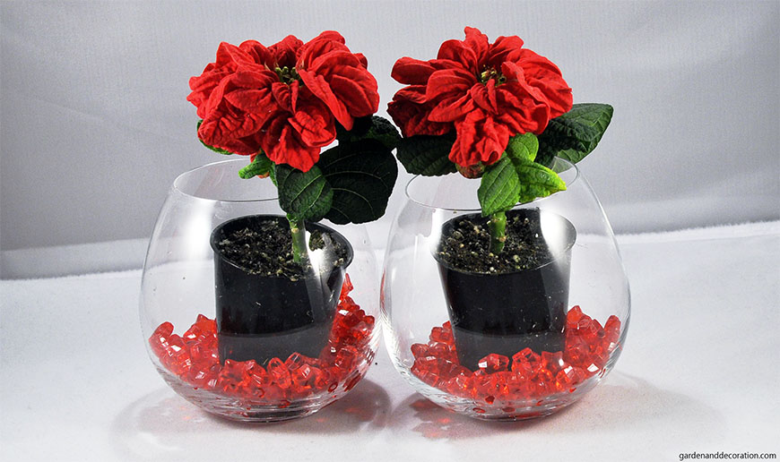 winter roses decoration idea
