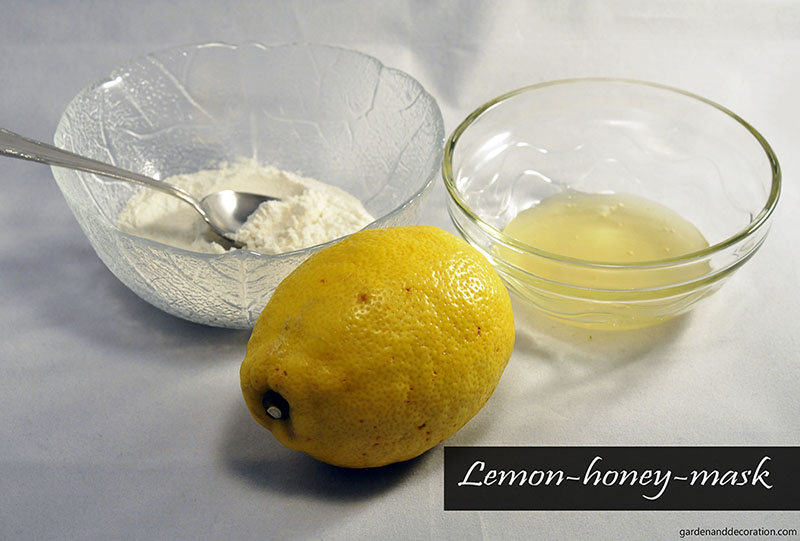 Lemon-honey-mask for your skin