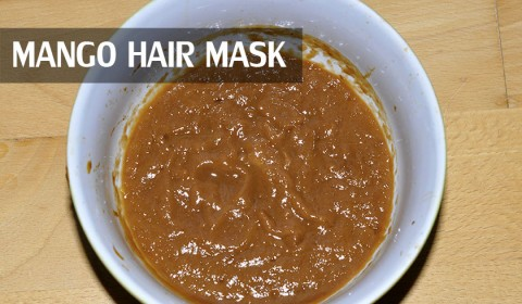 Homemade mango hair mask