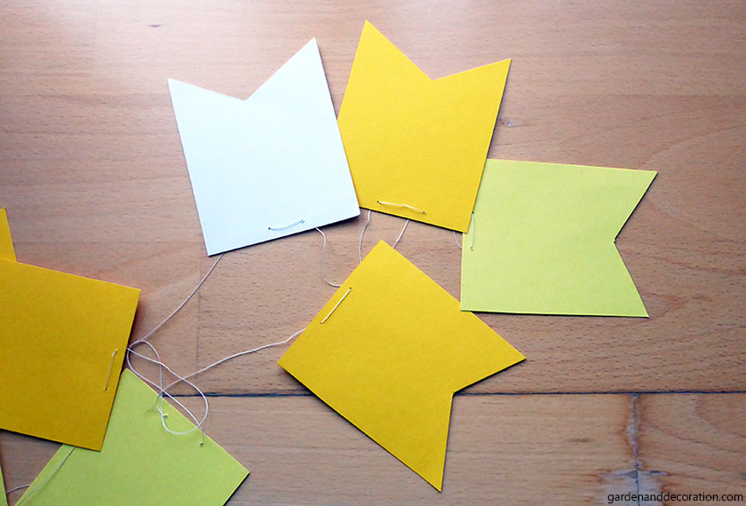 how to do paper pennant