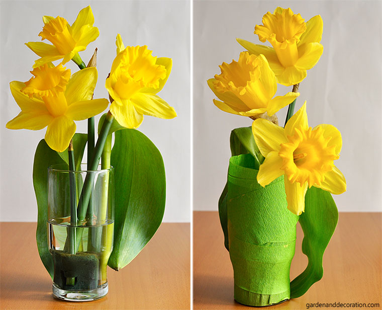 Easter table decoration_daffodils