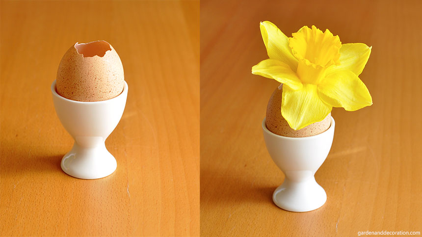 Easter table decoration_egg_daffodil