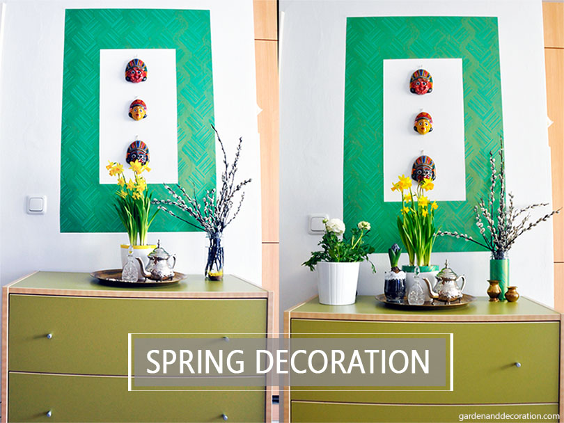 Spring decoration for a wall