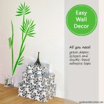Easy wall decoration idea: green leaves