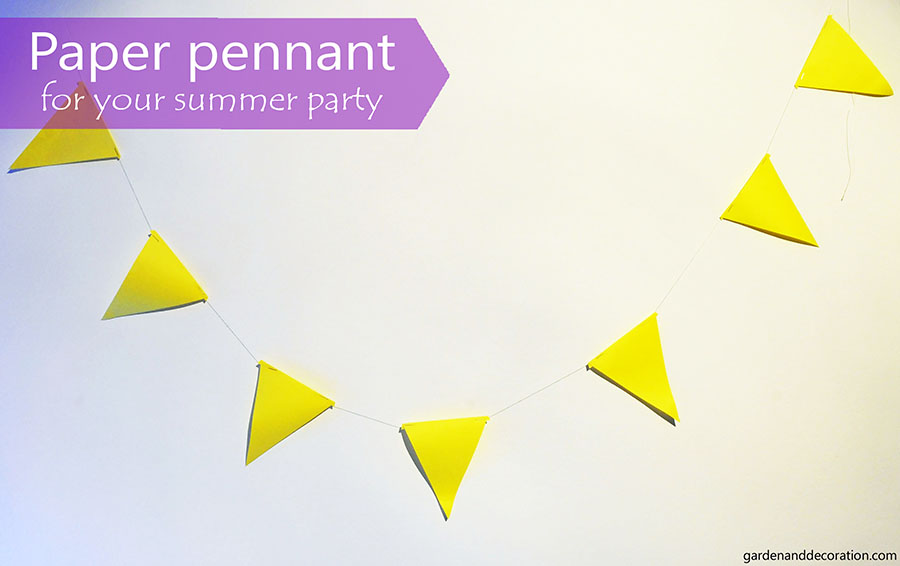 paper pennant_summer party