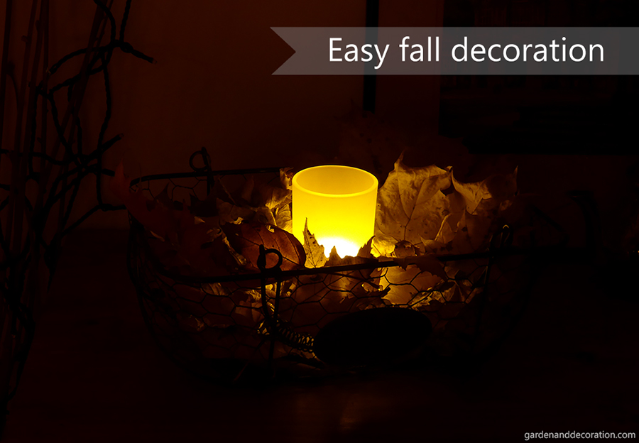 fall decoration idea