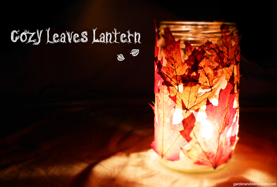 cozy leaves lantern