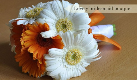 Lovely bridesmaid bouquet with gerberas