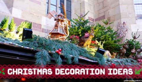 Christmas decoration ideas in blue and white