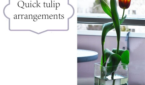 Four quick tulip arrangements