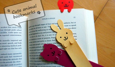 Cute animal bookmarks for bookworms