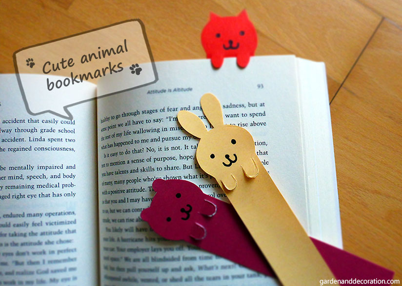 cute animal bookmarks