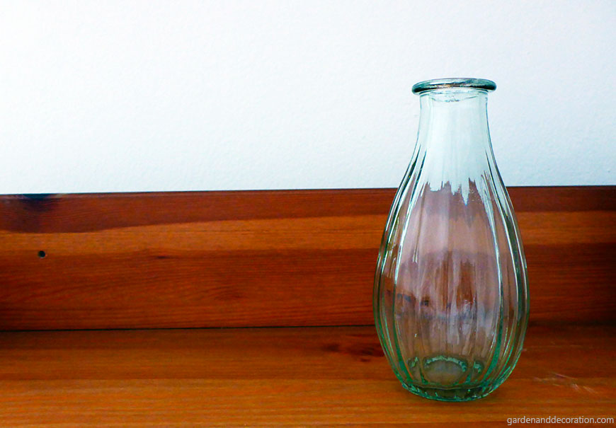 vase on bookcase