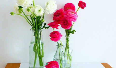 3 lovely ranunculus arrangement ideas