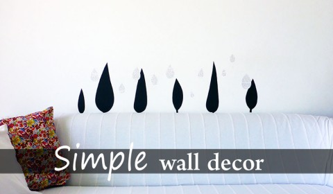 Simple wall decoration made with paper