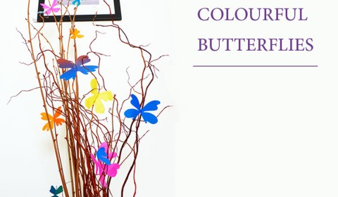 Make colourful butterflies for your room