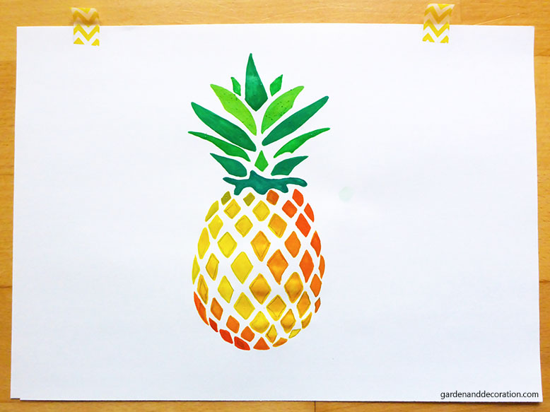 pineapple painted