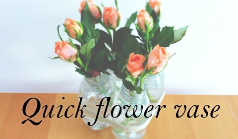 How to make a flower vase quickly?