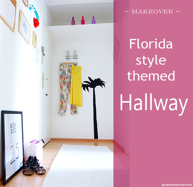 Florida style themed hallway