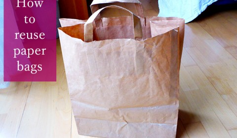How to reuse paper bags - recycling ideas