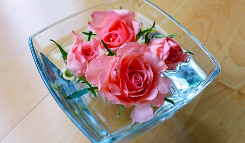 How to use household items for arranging flowers?