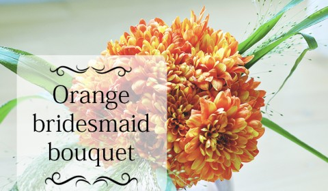 Simple bridesmaid bouquet in orange