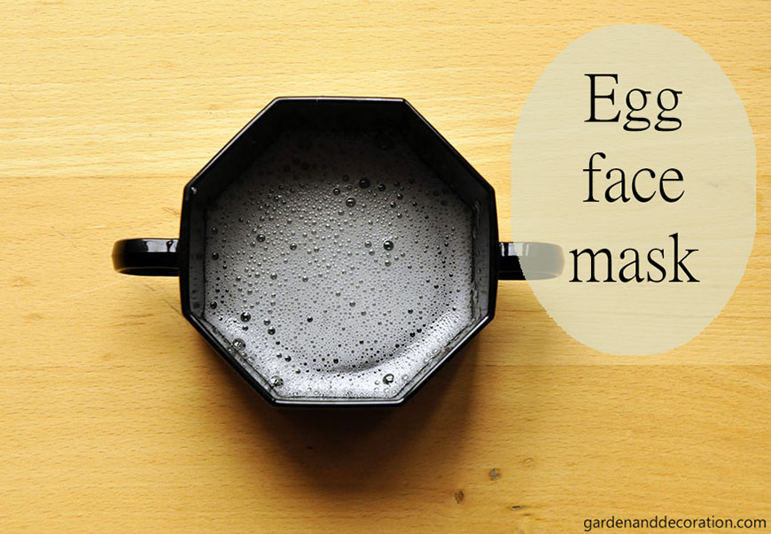 Homemade egg face mask