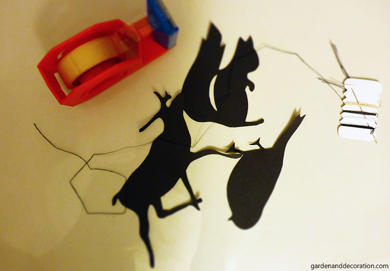 Cut out paper animals
