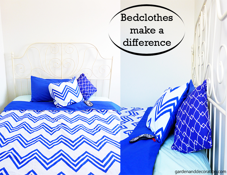 Change to colourful bedclothes