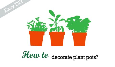 How to decorate plant pots easily?