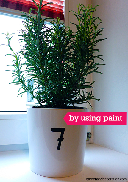 How to decorate plant pots?