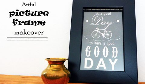 Easy and artful picture frame makeover