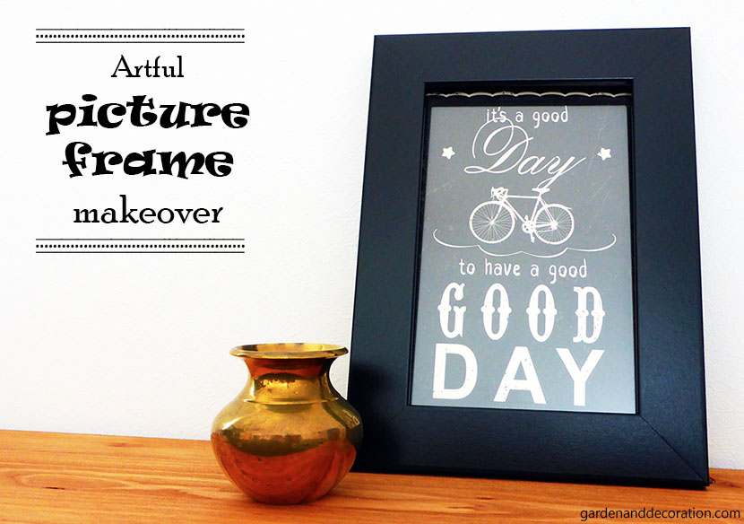 artful picture frame makeover DIY