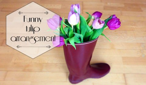 Funny idea for a tulip arrangement in spring