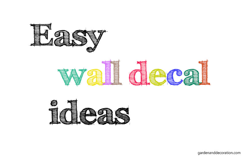 easy wall decal ideas