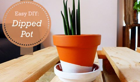 How to make a dipped flower pot?