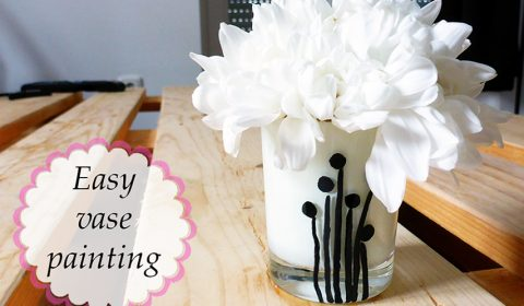 Easy vase painting for small flower arrangements