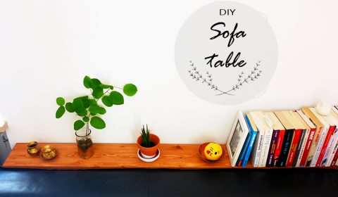 Living room makeover: sofa table