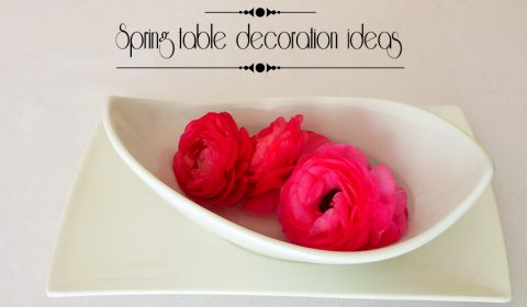 Spring table decoration ideas with flowers