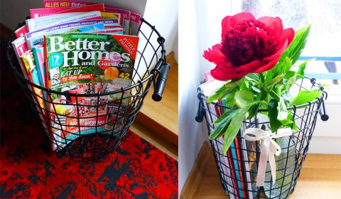 Simple & creative use for a wire basket