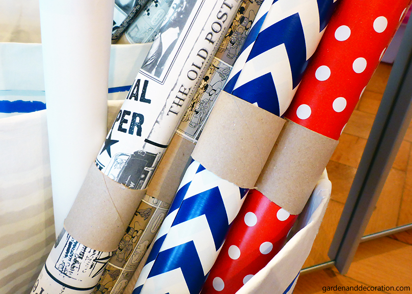 DIY for storing gift wrapping paper