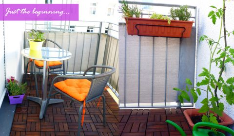 Colourful and southern islands inspired balcony makeover