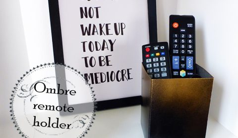 Easy DIY for the living room: a remote holder