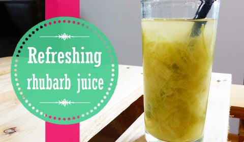Refreshing rhubarb juice for hot summer season