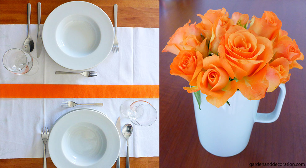 table setting ideas for 60s themed party