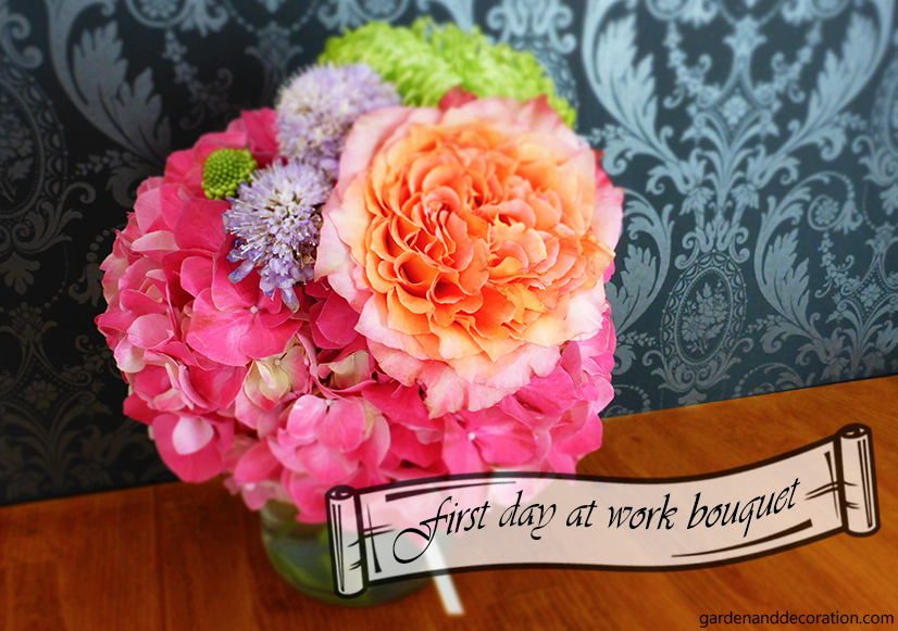 First day of work flower bouquet