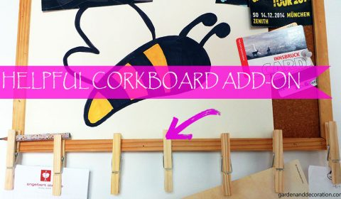 Easy and helpful add-on for your corkboard